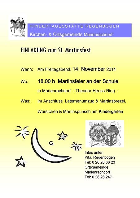 Einladung Laternenfest 2014